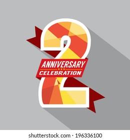 2th Years Anniversary Celebration Design