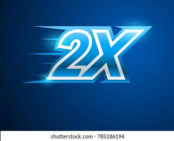 2X blue logo