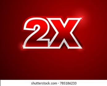 2X red logo