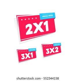 2x1, 3x1 & 3x2 Labels