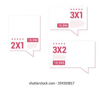 2x1, 3x1, 3x2 Price Tags