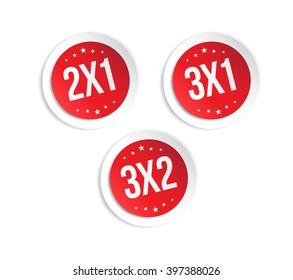 2x1, 3x1 & 3x2 Stickers