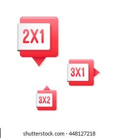 2x1, 3x1 & 3x2 Tags