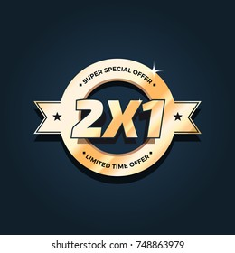 2x1 Offer Badge