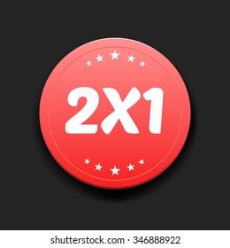 2x1 Round Label