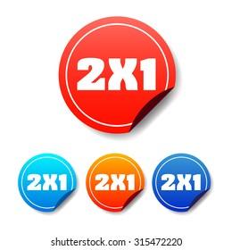 2x1 Round Stickers