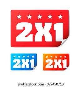 2x1 Stickers