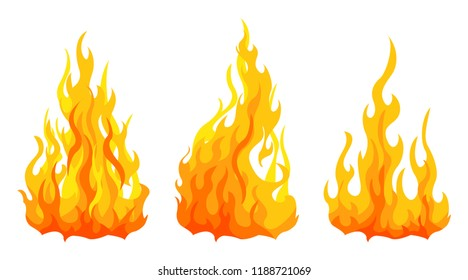 3 bonfire icon with flat bottom design element on white background
