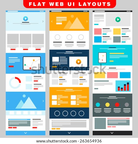 3 business web ui layout template stock vector royalty free