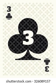 3 of Clubs Playing Card