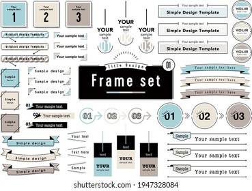 3 Color Title Design Frame set