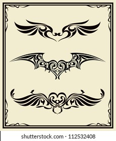3 design vintage tattoo