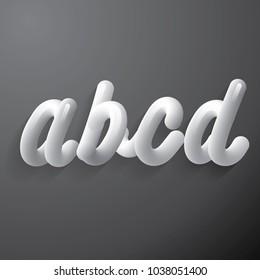 3 dimension typography vector