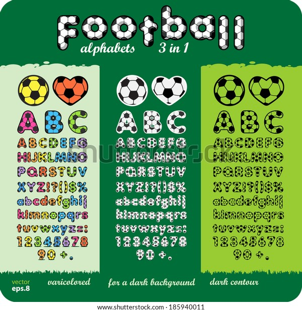 3 football (soccer) alphabet set.eps8.