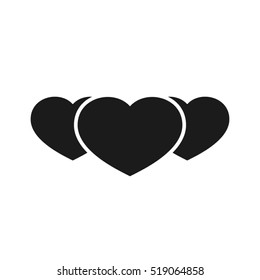 3 heart icon vector illustration eps10. Isolated badge for website or app - stock infographics