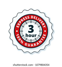 3 Hour Express Delivery illustration