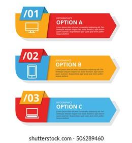 3 Modern Banner Technology Infographics Template