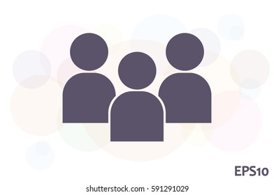 3 people icon vector illustration eps10.