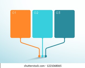 3 Point Vector Text Box Diagram 3d Infographic Template