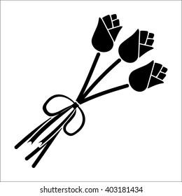 3 rose black