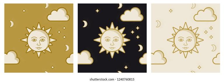 3 seamless sun pattern