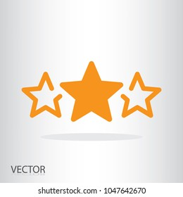 3 stars icon - rating symbol - sign vector illustration of Eps10