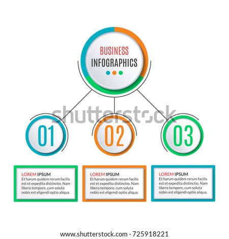 3 Steps Circle Infographics Template Business Stock Vector Royalty