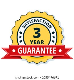 3 Year Satisfaction Guarantee illustration