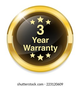3 year warranty button