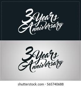 3 years anniversary celebration logotype, hand lettering