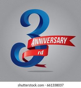 3 years anniversary celebration logotype on gray background