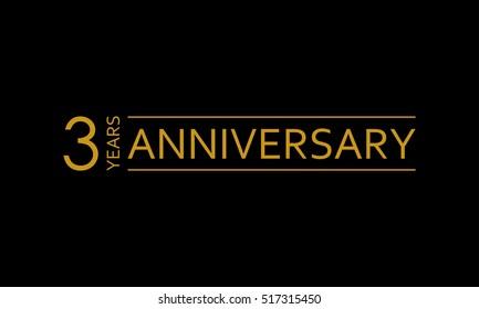 3 years anniversary icon. 3rd birthday emblem. Anniversary design element. Vector illustration.