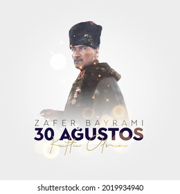 30 Agustos Zafer Bayrami Kutlu Olsun. August 30 celebration of victory and the National Day in Turkey. - Shutterstock ID 2019934940