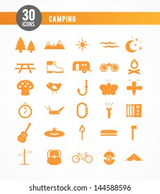 30 camping icons
