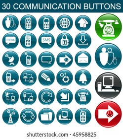 30 Communication Icon Set for Web Applications