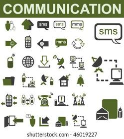 30 Communication Icons Set