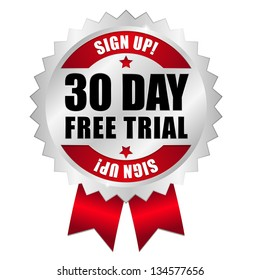 30 day free trial button