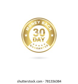 30 Day Money Back Guarantee Icon Gold Color