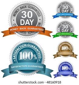 30 Day Money Back Guaranteed and 100% Satisfaction Guaranteed Sign Set