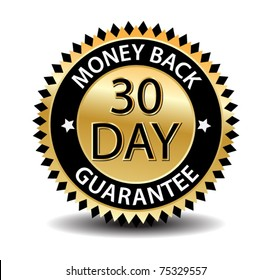30 day money back-vector