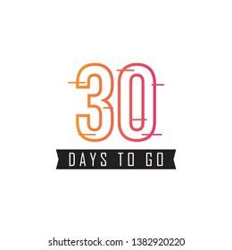 30 Days to go design template