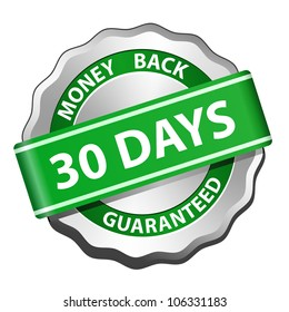 30 days money back guarantee sign. Vector illustration