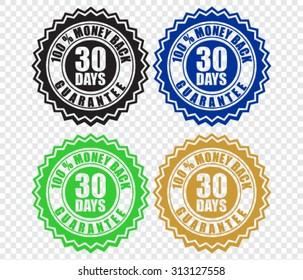 30 days money back guarantee label