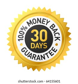 30 days money back guarantee label