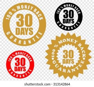 30 days money back, vector