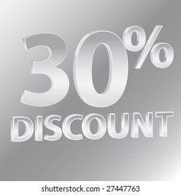 30% Discounts / vector