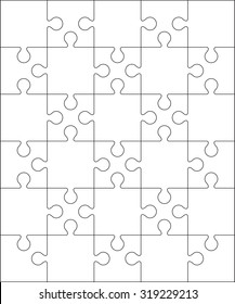 30 Jigsaw puzzle blank template or cutting guidelines : 5:6 ratio