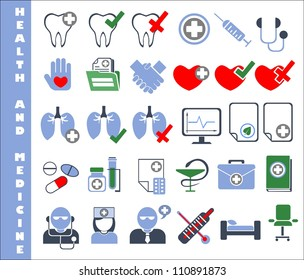 30 medical and healthcare icons
