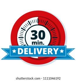 30 minutes delivery illustration