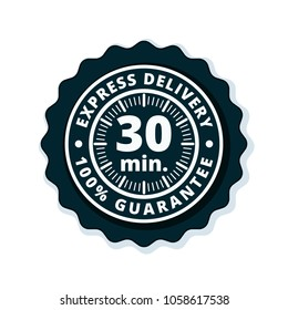 30 minutes Express Delivery illustration